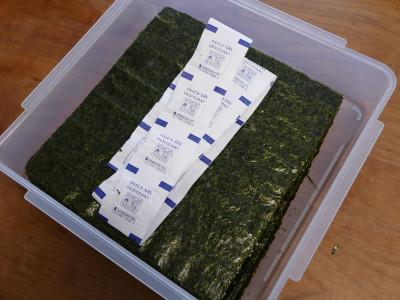 海苔 乾燥剤