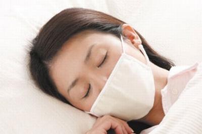 マスクをして横向きにして寝る