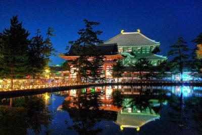 なら燈花会 東大寺鏡池