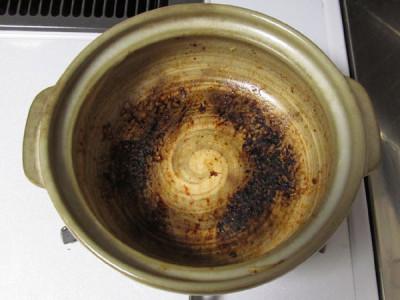 土鍋 焦げ付き