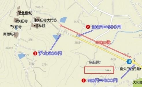 矢田寺 駐車場