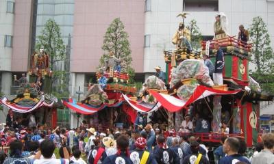 久喜提灯祭り 人形山車